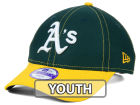 Oakland Athletics New Era MLB Junior Fundamental Diamond Era 9FORTY Cap Adjustable Hats