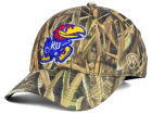 Kansas Jayhawks Top of the World NCAA Blades Camo Flex Hat Stretch Fitted Hats