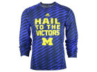 Michigan Wolverines adidas NCAA Mens Player Training Long Sleeve Crew T-Shirt T-Shirts