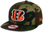 Cincinnati Bengals New Era NFL Woodland Camo Team Color 9FIFTY Snapback Cap Adjustable Hats