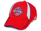 Detroit Pistons adidas NBA Trim Line Flex Cap Stretch Fitted Hats