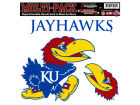 Kansas Jayhawks Moveable 8x8 Decal Multipack Bumper Stickers & Decals
