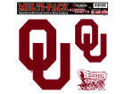Oklahoma Sooners Moveable 8x8 Decal Multipack Bumper Stickers & Decals
