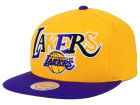 Los Angeles Lakers Mitchell and Ness NBA Big Poppin Snapback Cap Adjustable Hats