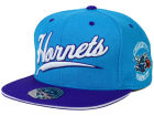 Charlotte Hornets Mitchell and Ness NBA Scripture Fitted Cap Hats