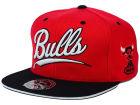 Chicago Bulls Mitchell and Ness NBA Scripture Fitted Cap Hats