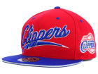 Los Angeles Clippers Mitchell and Ness NBA Scripture Fitted Cap Hats