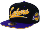 Los Angeles Lakers Mitchell and Ness NBA Scripture Fitted Cap Hats
