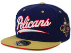 New Orleans Pelicans Mitchell and Ness NBA Scripture Fitted Cap Hats