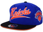 New York Knicks Mitchell and Ness NBA Scripture Fitted Cap Hats