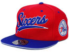 Philadelphia 76ers Mitchell and Ness NBA Scripture Fitted Cap Hats