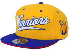 San Francisco Warriors  Mitchell and Ness NBA Scripture Fitted Cap Hats