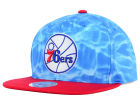 Philadelphia 76ers Mitchell and Ness NBA Big Wave Snapback Cap Hats