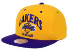 Los Angeles Lakers Mitchell and Ness NBA Arch 2 Tone Snapback Cap Adjustable Hats