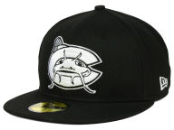 New Era MiLB Black and White 59FIFTY Cap Fitted Hats