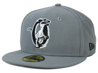 New Era MiLB Gray Black White 59FIFTY Cap Fitted Hats