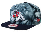 Fresno State Bulldogs New Era NCAA Overcast 9FIFTY Snapback Cap Adjustable Hats