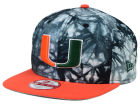 Miami Hurricanes New Era NCAA Overcast 9FIFTY Snapback Cap Adjustable Hats