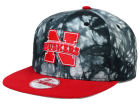 Nebraska Cornhuskers New Era NCAA Overcast 9FIFTY Snapback Cap Adjustable Hats