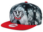 Wisconsin Badgers New Era NCAA Overcast 9FIFTY Snapback Cap Adjustable Hats