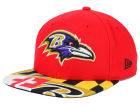 Baltimore Ravens New Era NFL Flag 9FIFTY Snapback Cap Adjustable Hats