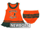 Miami Hurricanes NCAA Newborn Ruffle Tank Dress Infant Apparel
