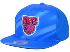 New York Nets Mitchell and Ness NBA Jersey Pattern Snapback Hat Adjustable Hats