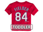 Texas Rangers Prince Fielder Majestic MLB Toddler Official Player T-Shirt T-Shirts