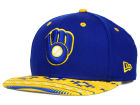 Milwaukee Brewers New Era MLB Fair Isle Print 2.0 9FIFTY Snapback Cap Adjustable Hats