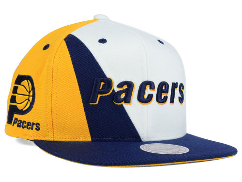 Indiana Pacers Mitchell and Ness NBA Game Day Snapback Cap Hats