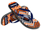 Chicago Bears Forever Collectibles Women's Aztec Flip Flops Apparel & Accessories