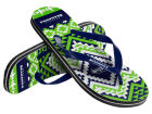 Seattle Seahawks Forever Collectibles Women's Aztec Flip Flops Apparel & Accessories