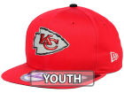 Kansas City Chiefs New Era 2015 NFL Kids Draft 9FIFTY Original Fit Snapback Cap Adjustable Hats