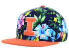 Illinois Fighting Illini Top of the World NCAA Waverunner Snapback Hat Adjustable Hats