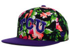 Texas Christian Horned Frogs Top of the World NCAA Waverunner Snapback Hat Adjustable Hats