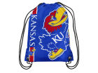 Kansas Jayhawks Forever Collectibles Big Logo Drawstring Backpack Luggage, Backpacks & Bags