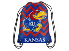 Kansas Jayhawks Forever Collectibles Women's Chevron Drawstring Backpack Luggage, Backpacks & Bags