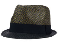 LIDS Private Label PL Two Toned Diamond Straw Fedora w Tonal Band Hats