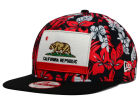 California Cal Floral 9FIFTY Snapback Cap Adjustable Hats