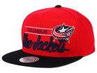 Columbus Blue Jackets Mitchell and Ness NHL City Bar Snapback Cap Adjustable Hats