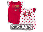 San Francisco 49ers Outerstuff NFL Newborn Polka Fan 2 Piece Creeper Set Infant Apparel