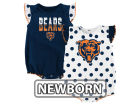 Chicago Bears Outerstuff NFL Newborn Polka Fan 2 Piece Creeper Set Infant Apparel