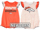 Denver Broncos Outerstuff NFL Newborn Polka Fan 2 Piece Creeper Set Infant Apparel