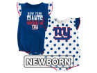 New York Giants Outerstuff NFL Newborn Polka Fan 2 Piece Creeper Set Infant Apparel