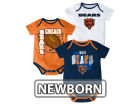 Chicago Bears Outerstuff NFL Newborn 3 Point Spread Body Suit Set Infant Apparel