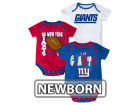 New York Giants Outerstuff NFL Newborn 3 Point Spread Body Suit Set Infant Apparel
