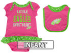 Philadelphia Eagles Outerstuff NFL Infant Little Sweet Bib & Bootie Set Infant Apparel
