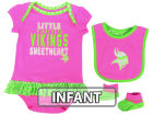 Minnesota Vikings Outerstuff NFL Infant Little Sweet Bib & Bootie Set Infant Apparel