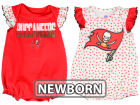 Tampa Bay Buccaneers Outerstuff NFL Newborn Polka Fan 2 Piece Creeper Set Infant Apparel
