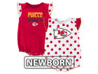 Kansas City Chiefs Outerstuff NFL Newborn Polka Fan 2 Piece Creeper Set Infant Apparel